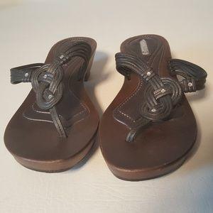 STUDIO 35 Shoes - Studio 35 Women's Slip On Sandals Size 8 Brown